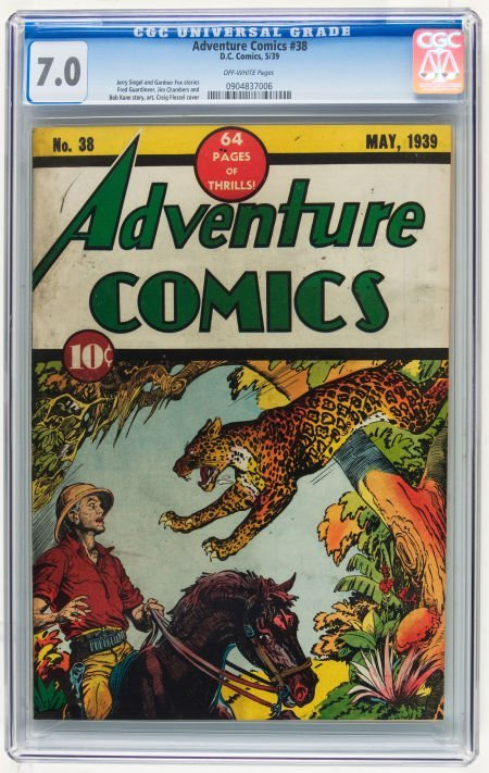 Adventure Comics #38 (DC, 1939) CGC FN/VF 7.0 Off-white