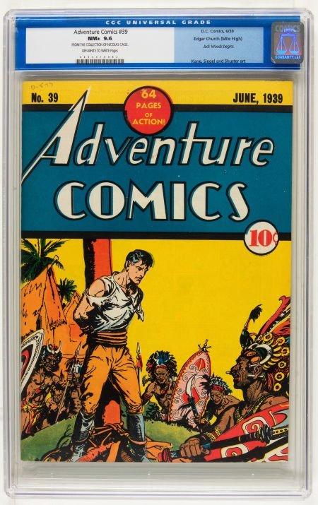 Adventure Comics #39 Mile High pedigree (DC, 1939) CGC