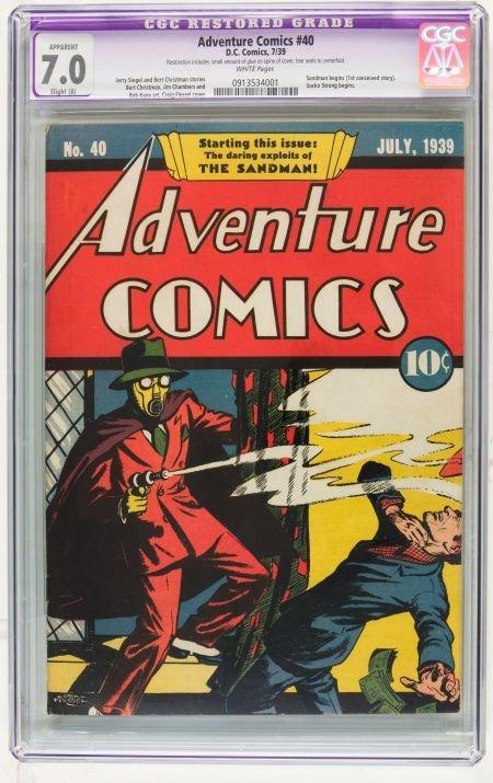Adventure Comics #40 (DC, 1939) CGC Apparent FN/VF 7.0