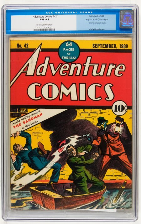Adventure Comics #42 Mile High pedigree (DC, 1939) CGC