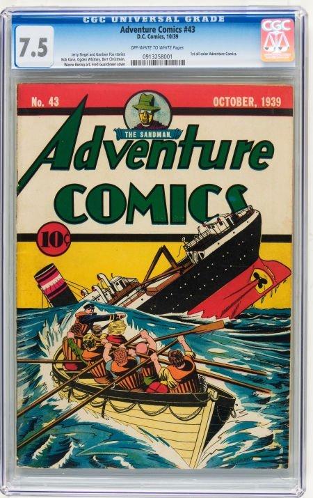 Adventure Comics #43 (DC, 1939) CGC VF- 7.5 Off-white t