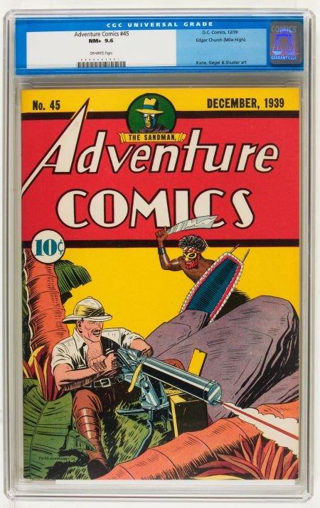 Adventure Comics #45 Mile High pedigree (DC, 1939) CGC