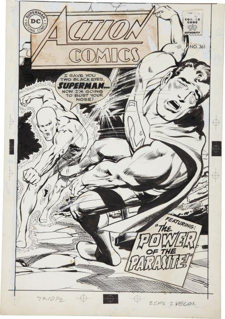Neal Adams Action Comics #361 Cover Original Art (DC, 1