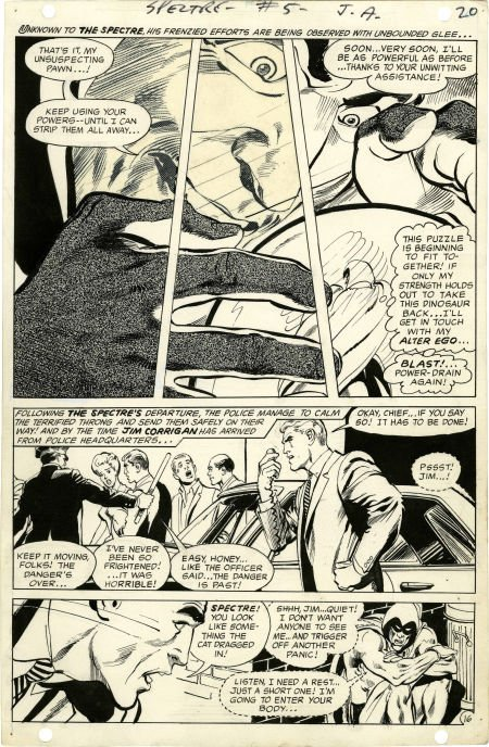 Neal Adams The Spectre #5 page 16 Original Art (DC, 196