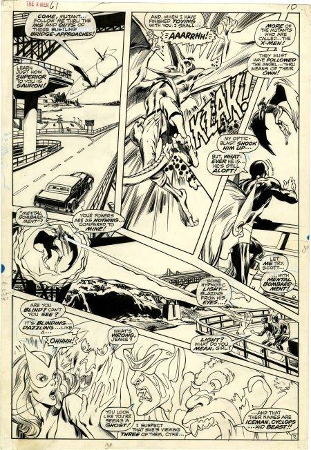 Neal Adams and Tom Palmer X-Men #61 page 7 Original Art