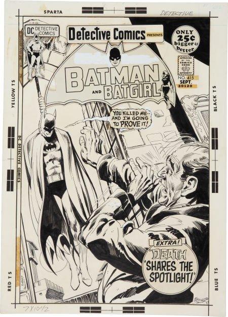 Neal Adams and Dick Giordano Detective Comics #415 Cove