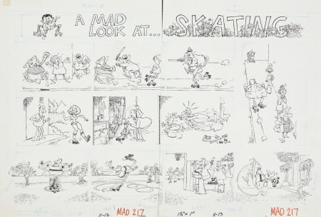 """Sergio Aragones Mad #217 Complete 4-page Story """"A Mad L"""
