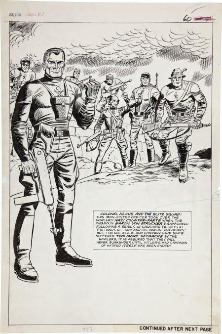 Dick Ayers and John Tartaglione Sgt. Fury Annual #3 Col