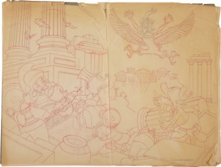 Carl Barks Menace Out of the Myths Preliminary Original