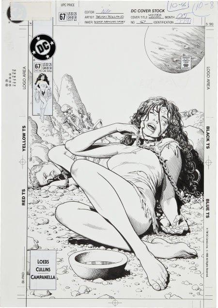 Brian Bolland Wonder Woman #67 Cover Original Art (DC,