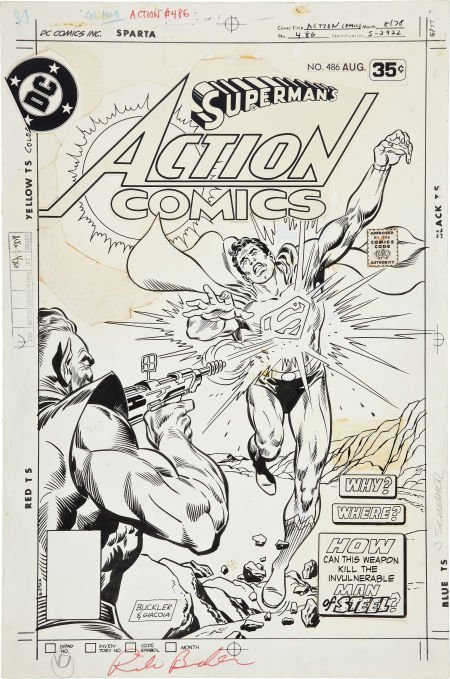 Rich Buckler and Frank Giacoia Action Comics #486 Cover