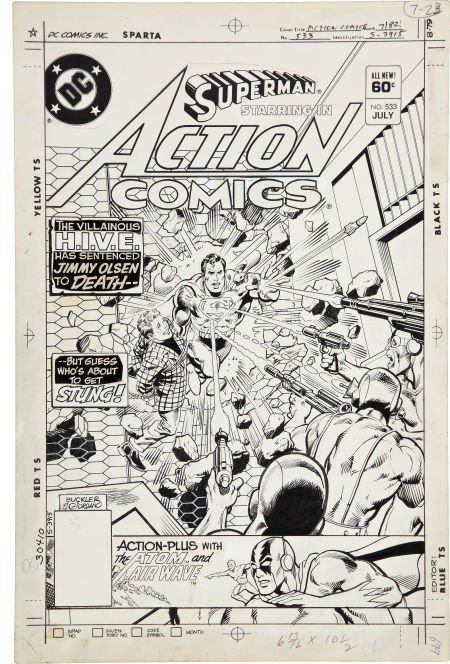 Rich Buckler and Dick Giordano Action Comics #533 Cover