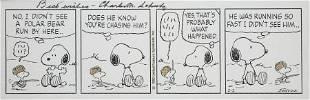 Charles Schulz Peanuts Daily Comic Strip Original Art d