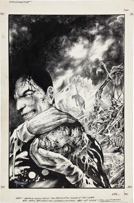 John Totleben Miracleman #15 Cover Original Art (Eclips