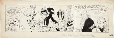 Alex Raymond Rip Kirby Daily Comic Strip Original Art d