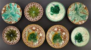 69048 FOUR PAIRS OF MAJOLICA DESSERT PLATES  Villeroy