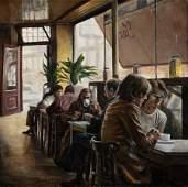 79264: HARRY MCCORMICK (American, b. 1942) Cafe Oil on