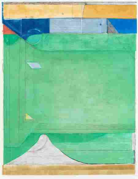 72055: RICHARD DIEBENKORN (American, 1922-1993) Green,