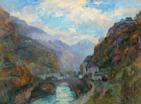 72002: ALBERT LEBOURG (French, 1849-1928) Le Rhone à Sa