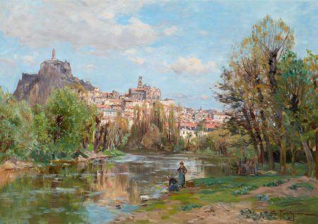 72005: EDMOND MARIE PETITJEAN (French, 1844-1925) Une R