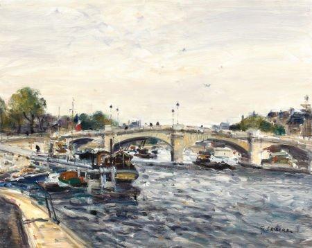 72012: GASTON SEBIRE (French, 1920-2001) Paris, Pont de