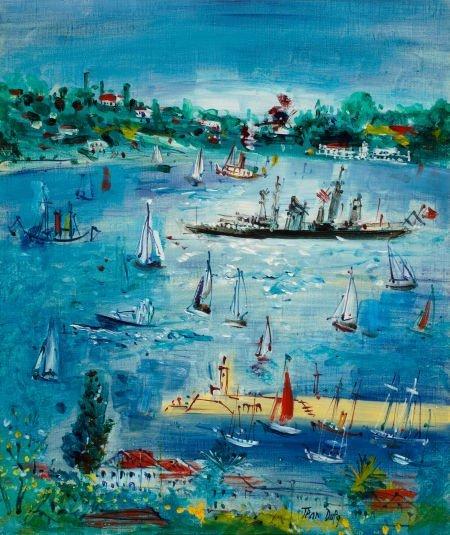 72014: JEAN DUFY (French, 1888-1964) Marine, circa 1946