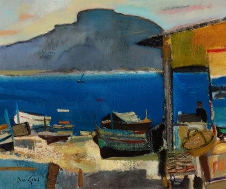 72015: RENÉ GENIS (French, 1922-2004) Barques à Mondell