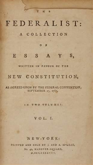 Alexander Hamilton, James Madison, and John Jay. The Fe