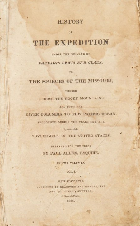 [Meriwether] Lewis, and [William] Clark. History of the