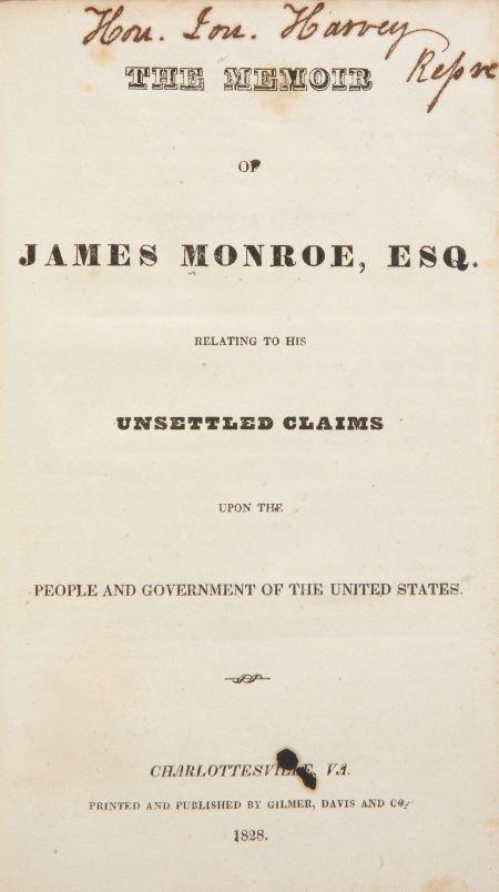 [James Monroe]. The Memoir of James Monroe, Esq. Relati
