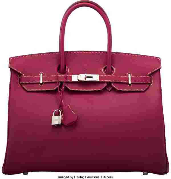 Hermès Limited Edition 35cm Tosca & Rose Tyrien