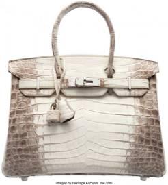 58060: Hermès Extraordinary 30cm Matte White Himalayan