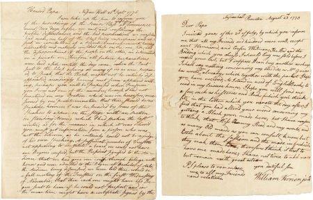 34014: Battle of Long Island: William Vernon Jr. Autogr