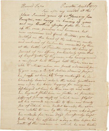 34015: Revolutionary War: William Vernon Jr. Autograph