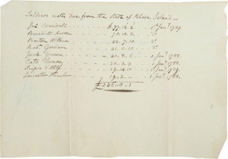 34019: Revolutionary War Slave Soldiers: 1st Rhode Isla