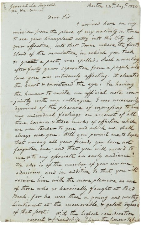34020: [Marquis de Lafayette] William Vernon Jr. Retain