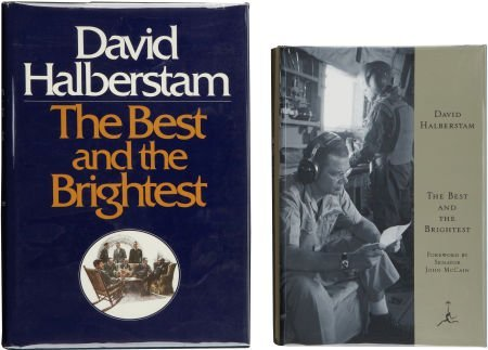 David Halberstam. Two Signed Editions of The Best and T