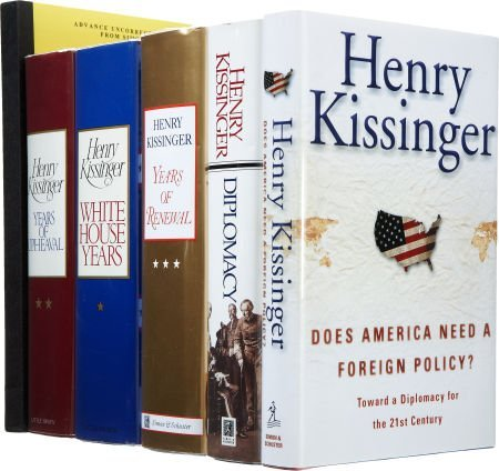Henry Kissinger. Six Signed First Editions, including:
