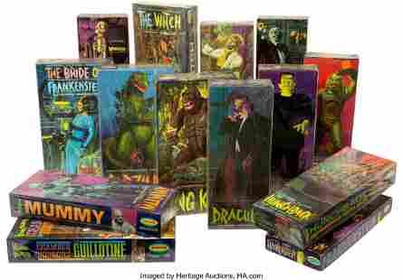 89039: Vintage Set of (14) Aurora Monster Model Kits in