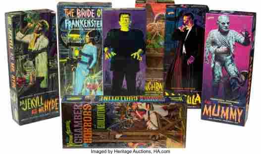 89043: Vintage Set of (7) Aurora Monster Model Kits in