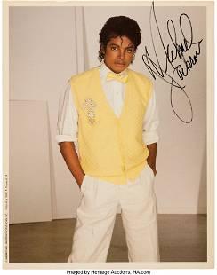 11253: Michael Jackson Signed Color 8 X 10 Photo Print.
