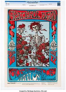 """11137: FD-26 Grateful Dead 1966 """"Skeleton & Roses"""" Conc"""