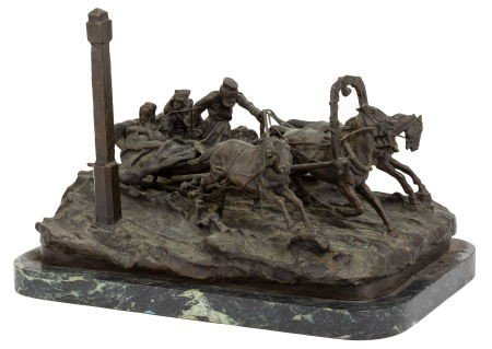 66001: A RUSSIAN BRONZE FIGURAL GROUP AFTER VASSILI YAC