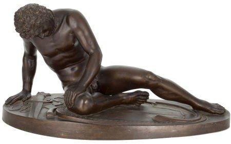 66002: AN ITALIAN PATINATED BRONZE FIGURE:  THE DYING G