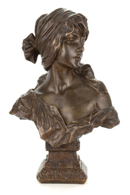 66005: A FRENCH PATINATED BRONZE FIGURE AFTER EMMANUEL