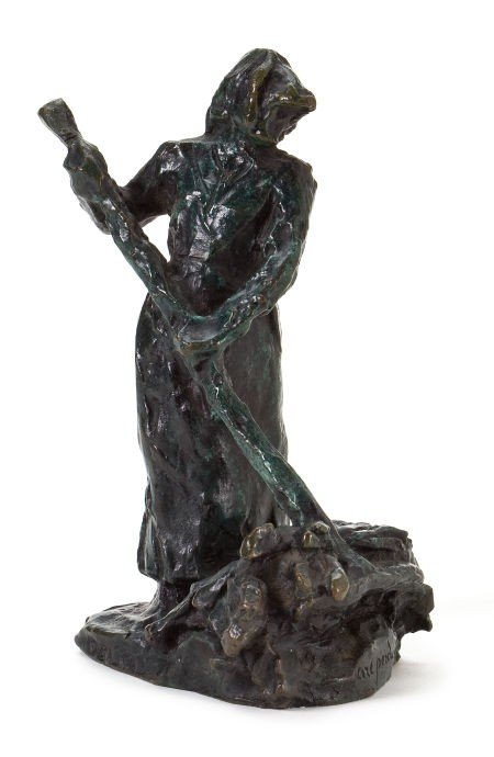 66008: A FRENCH PATINATED BRONZE FIGURE AFTER AIMÉ JULE
