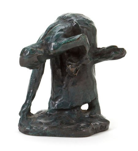66009: A FRENCH PATINATED BRONZE FIGURE AFTER AIMÉ JULE