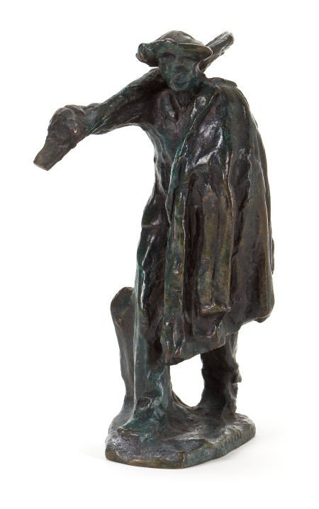 66011: A FRENCH PATINATED BRONZE FIGURE AFTER AIMÉ JULE