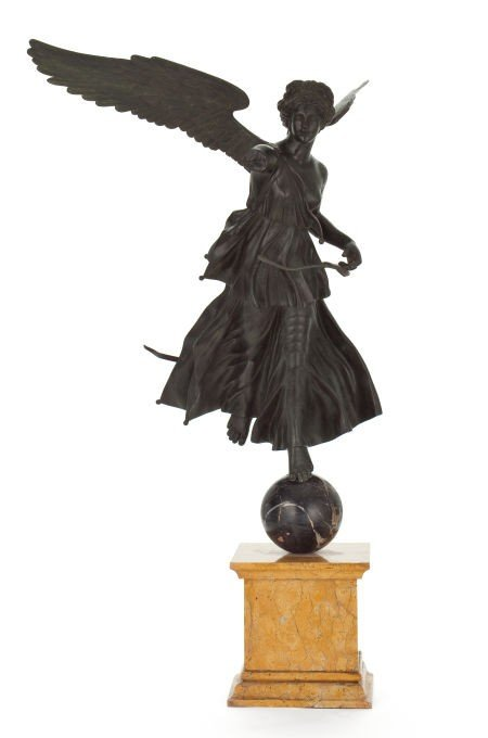66015: AN ITALIAN PATINATED BRONZE FIGURE OF WINGED VIC