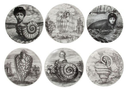 66221: A GROUP OF THIRTY-ONE FORNASETTI CERAMIC PLATES